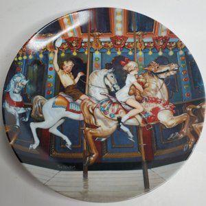 "1982 Brayfher Hall ""Carousel"" Collector Plate"